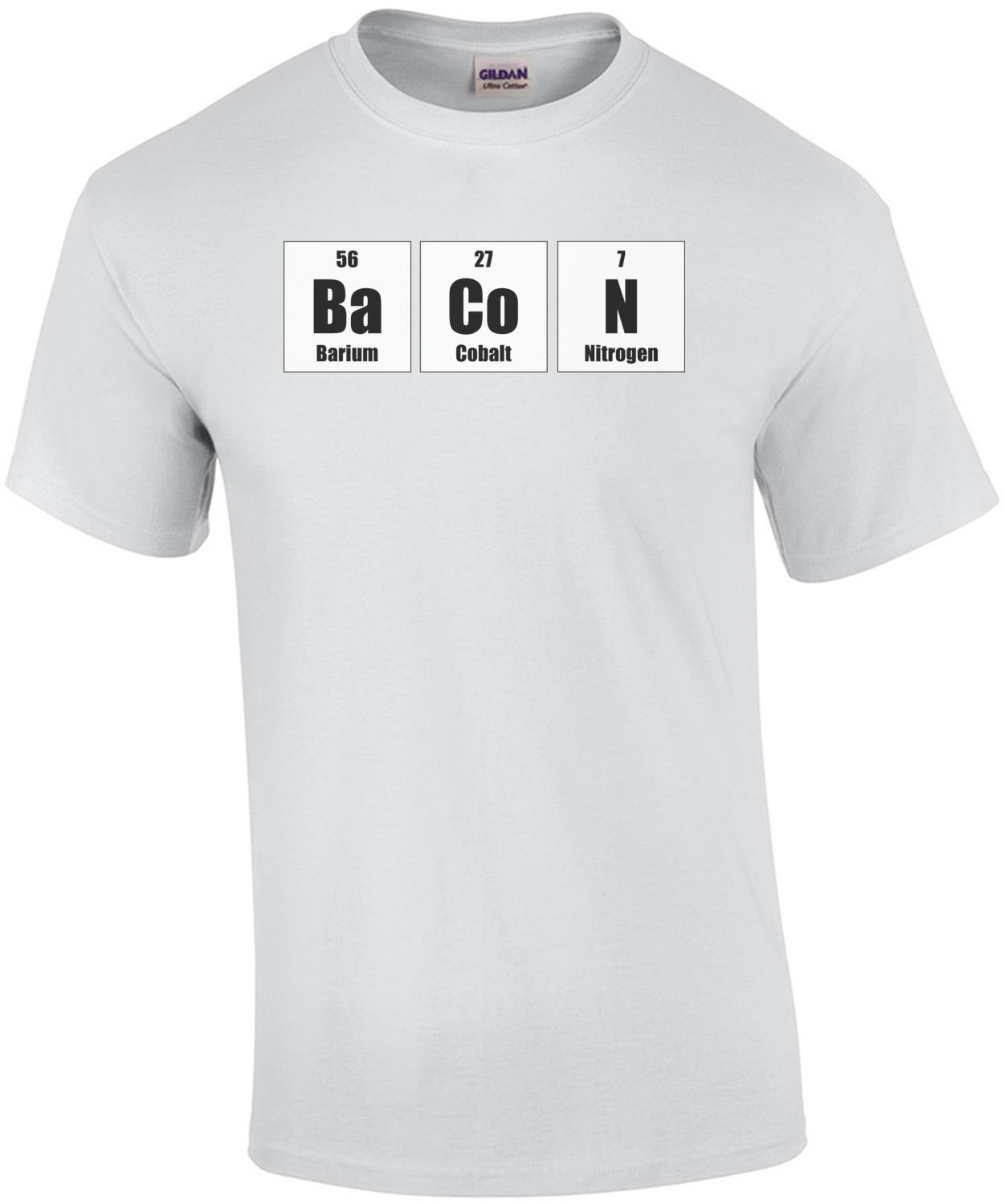 The elements of bacon - funny bacon t-shirt