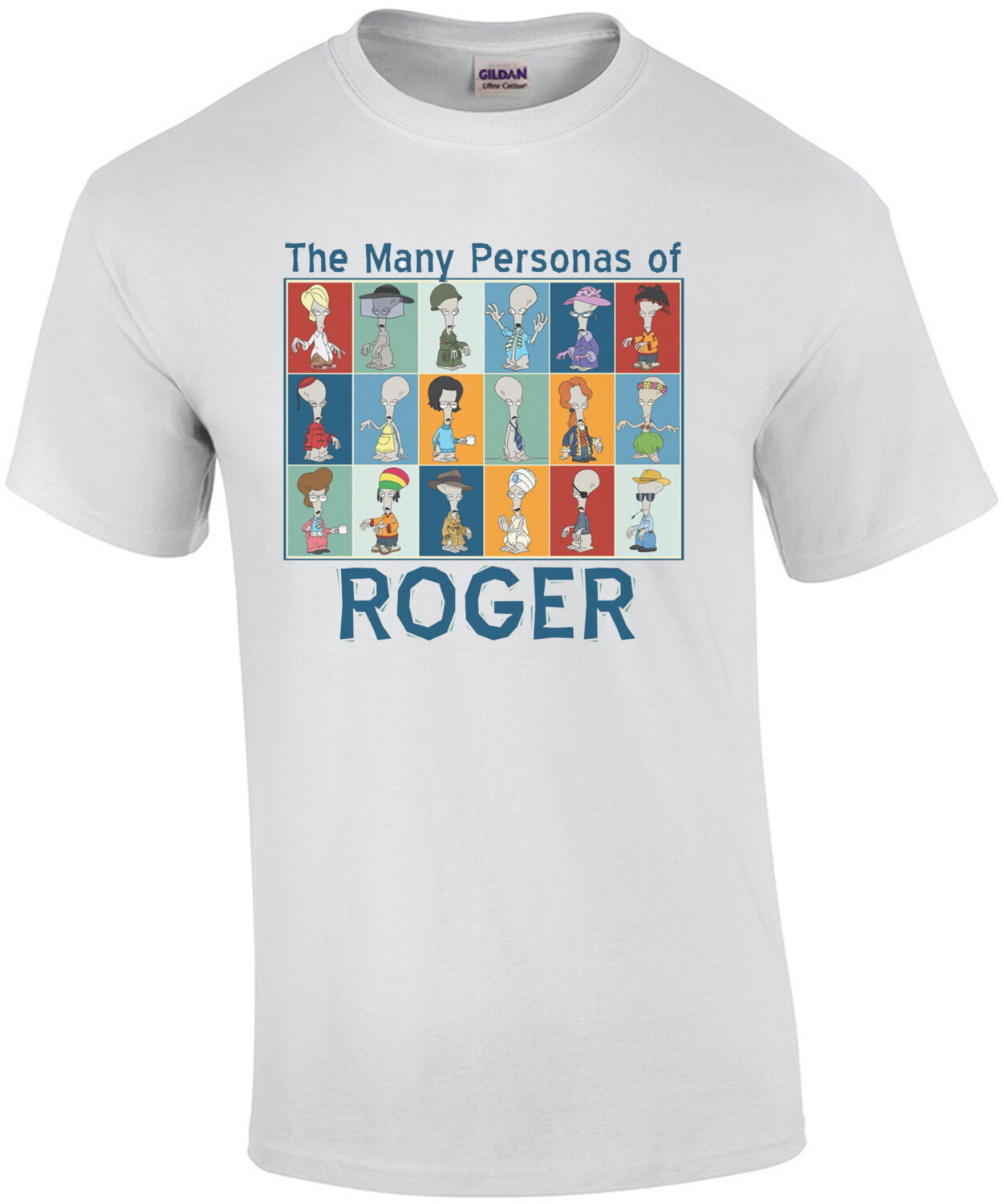 The Many Personas of Roger - American Dad! T-Shirt