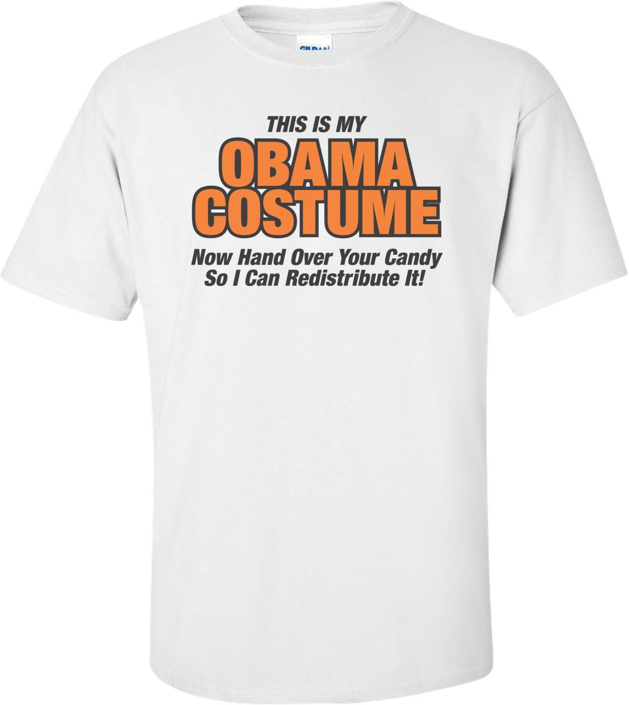 This Is My Obama Costume Anti Obama Halloween T-shirt
