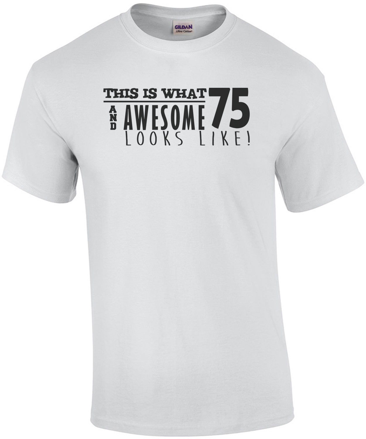 This is what 75 and awesome looks like 75th birthday t-shirt - happy birthday 75 tshirt