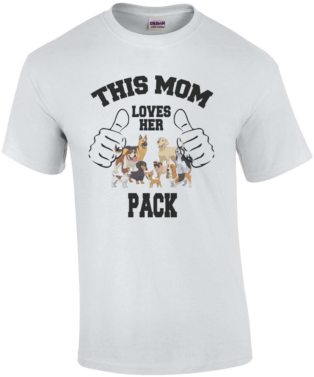 This Mom Loves Her Pack T-Shirt