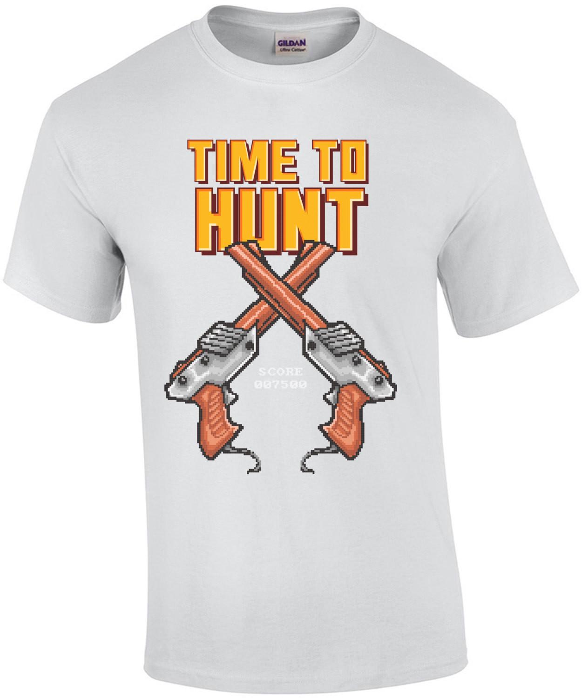 Time To Hunt Retro Nintendo Zapper Gun T-Shirt
