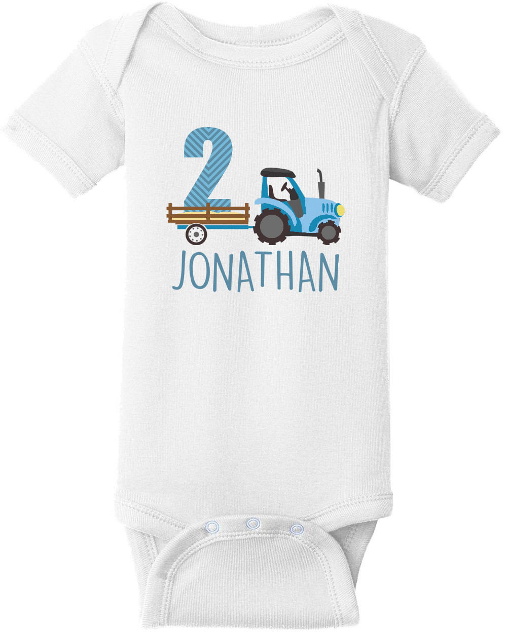 Tractor Pull - First Birthday Shirt. 1st Birthday Shirt. Boys Happy Birthday. Custom T-Shirt with your boys name and age. Personalized Birthday T-Shirt