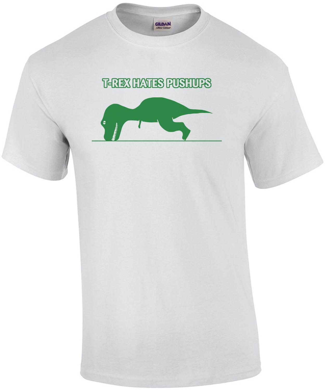 T-rex Hates Pushups Funny Kid's T-shirt