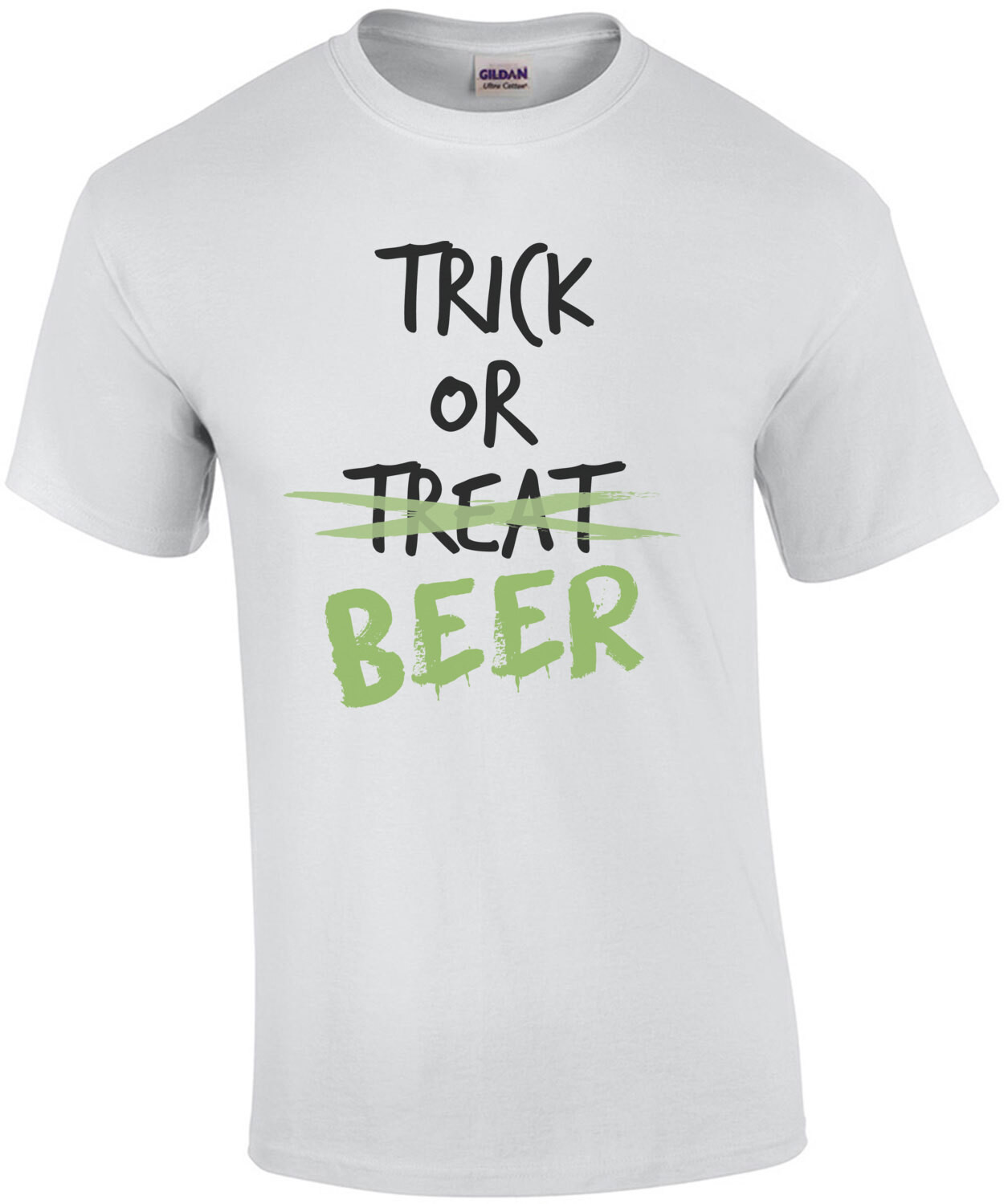 Trick or treat - beer - funny halloween t-shirt