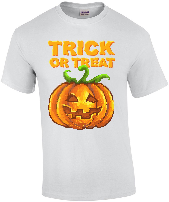 Trick Or Treat Retro Jack O Lantern Pumkin Halloween T-Shirt