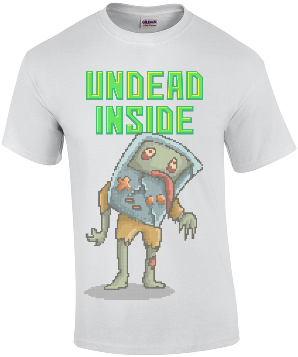 Undead Inside Retro Zombie Game Boy T-Shirt
