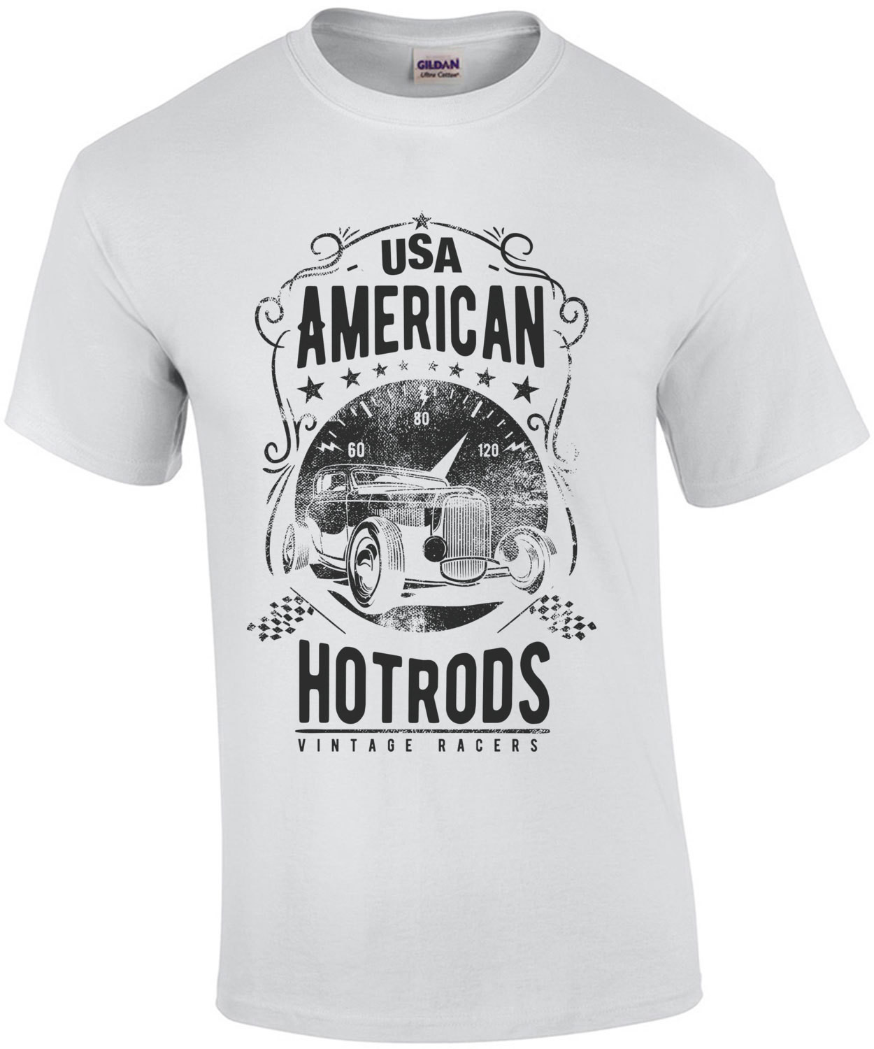Usa American Hot Rods Vintage Racers T-Shirt