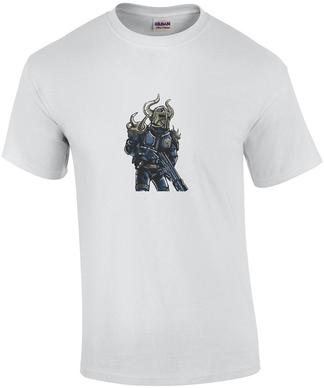 Viking Soldier Futuristic T-Shirt