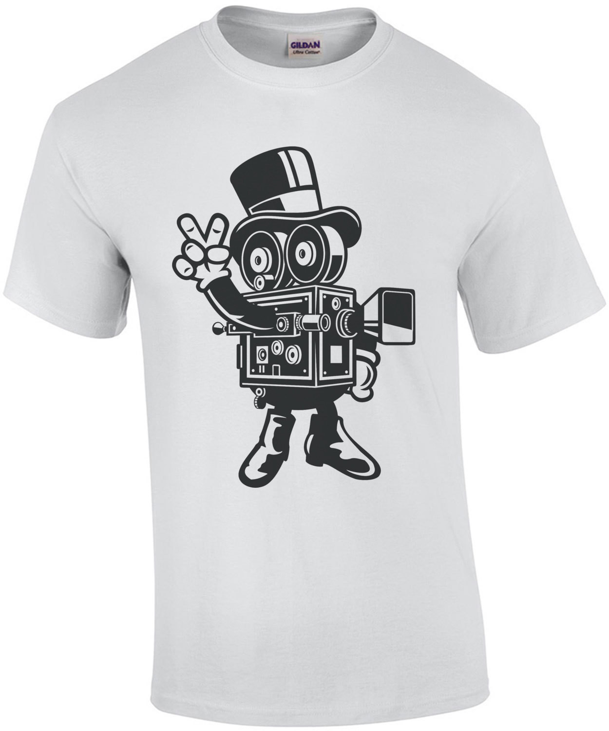 Vintage Retro Camera Man T-Shirt