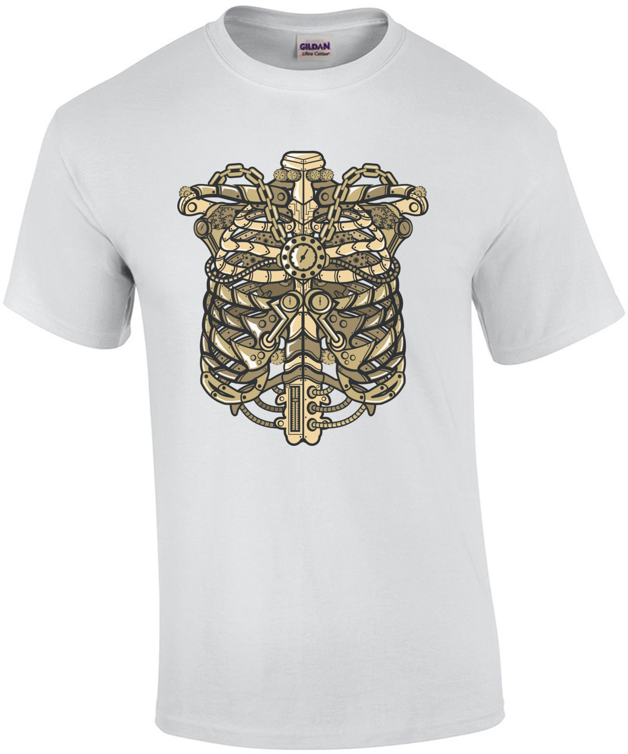 Vintage Steampunk Ribcage T-Shirt