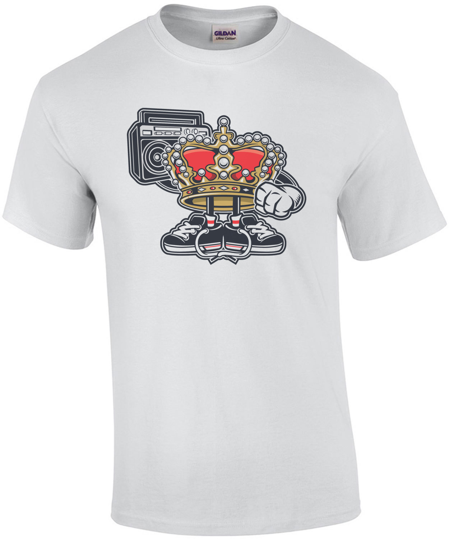 Vintage Street King Boombox Gangsta T-Shirt