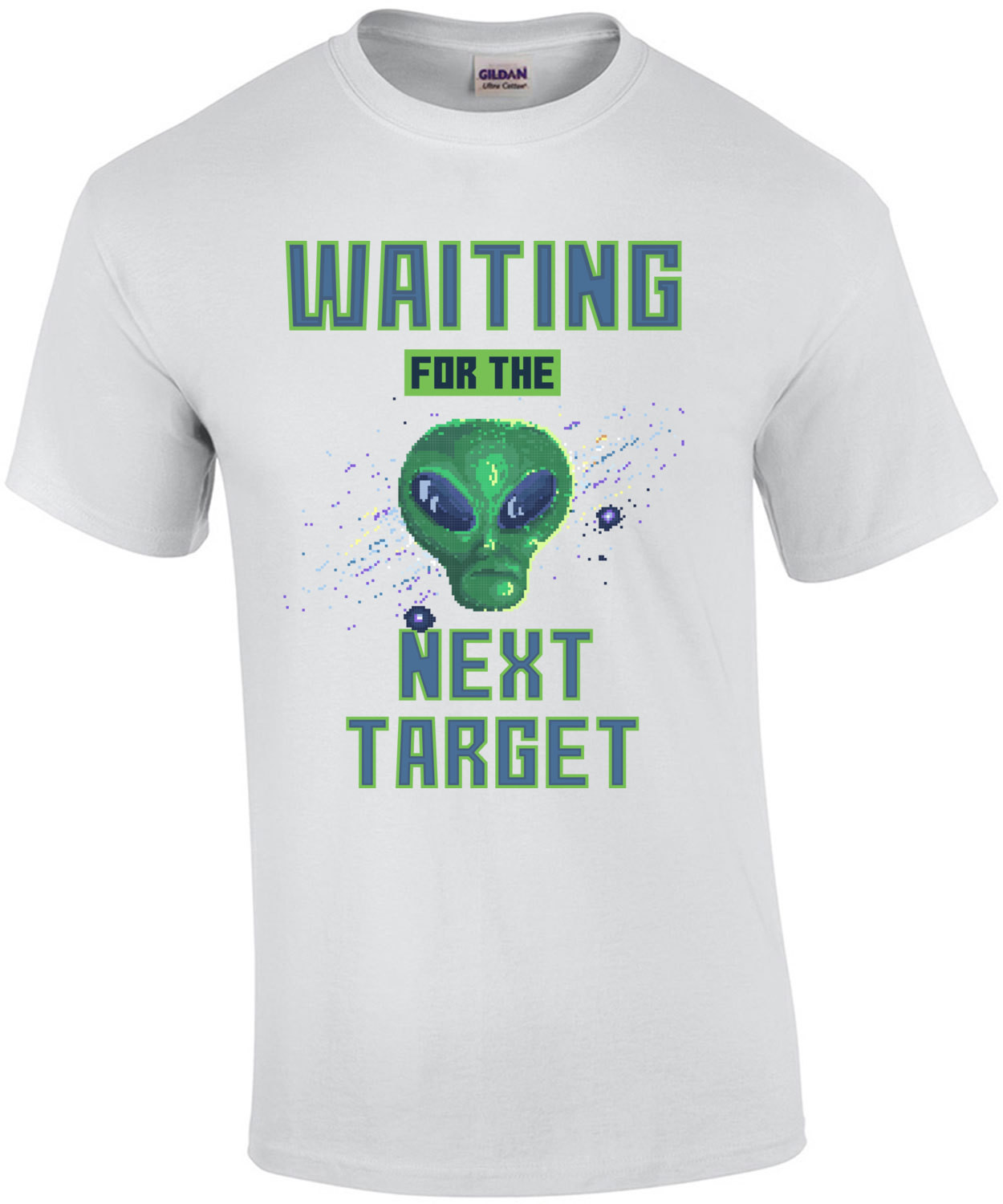 Waiting For The Next Target Alien Retro T-Shirt