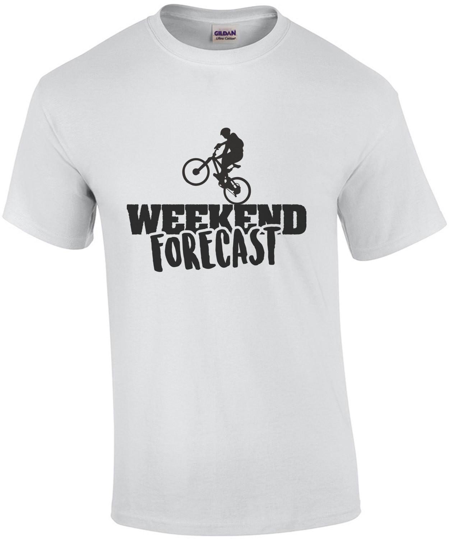 Weekend Forecast - bike t-shirt - cycling t-shirt