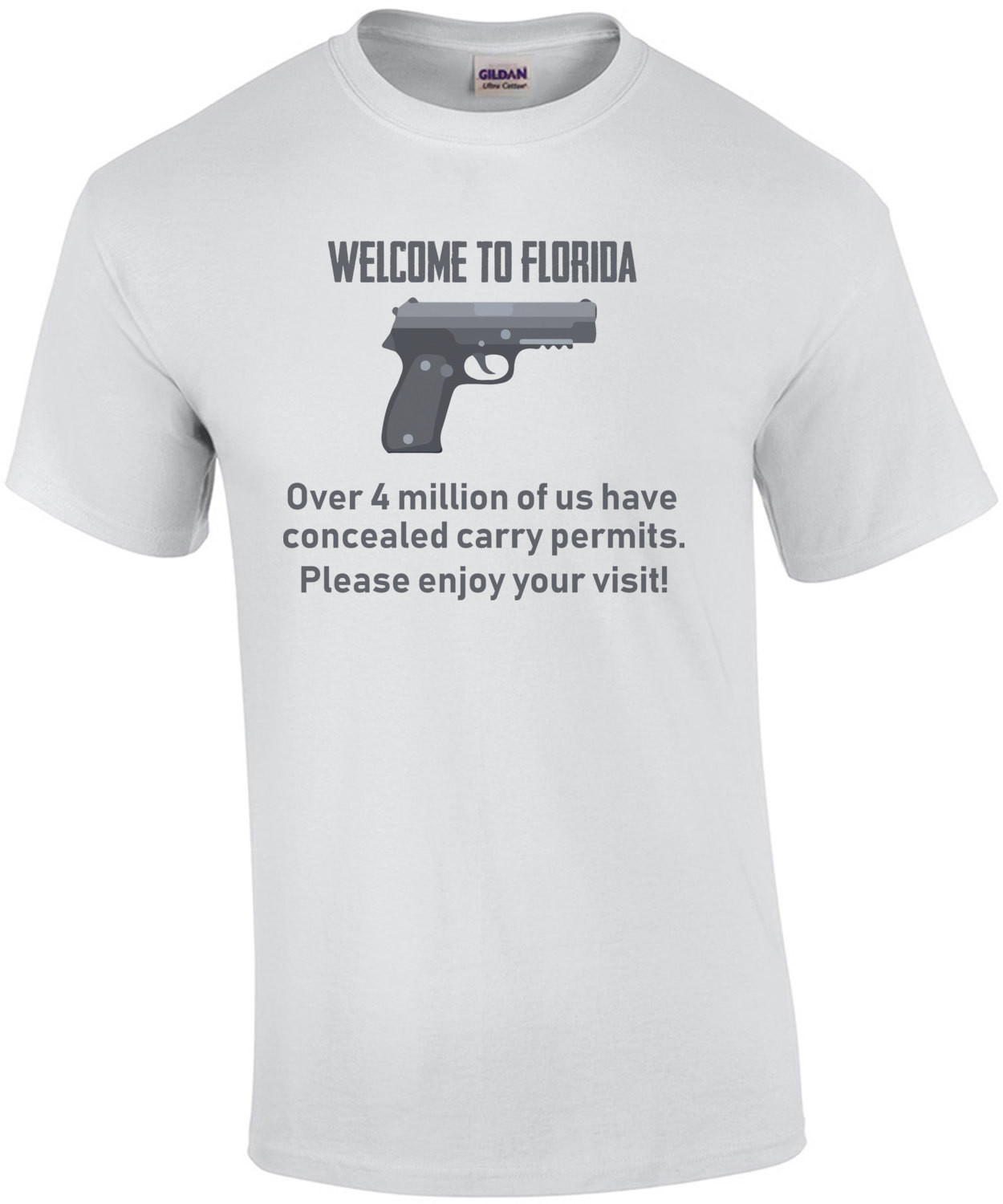 Welcome to florida - Over 4 million of us have concealed carry permits. Please enjoy your visit! Florida T-Shirt