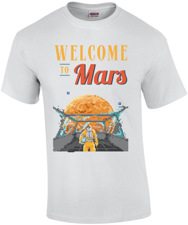 Welcome To Mars Retro T-Shirt