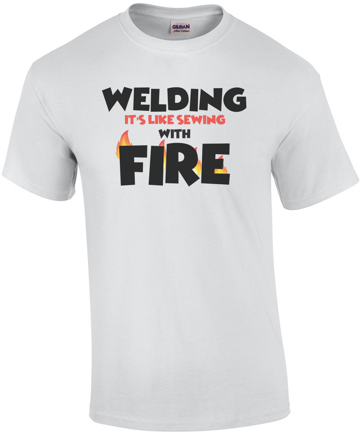 Welding is like sewing with fire - welding shirt - funny welder t-shirt