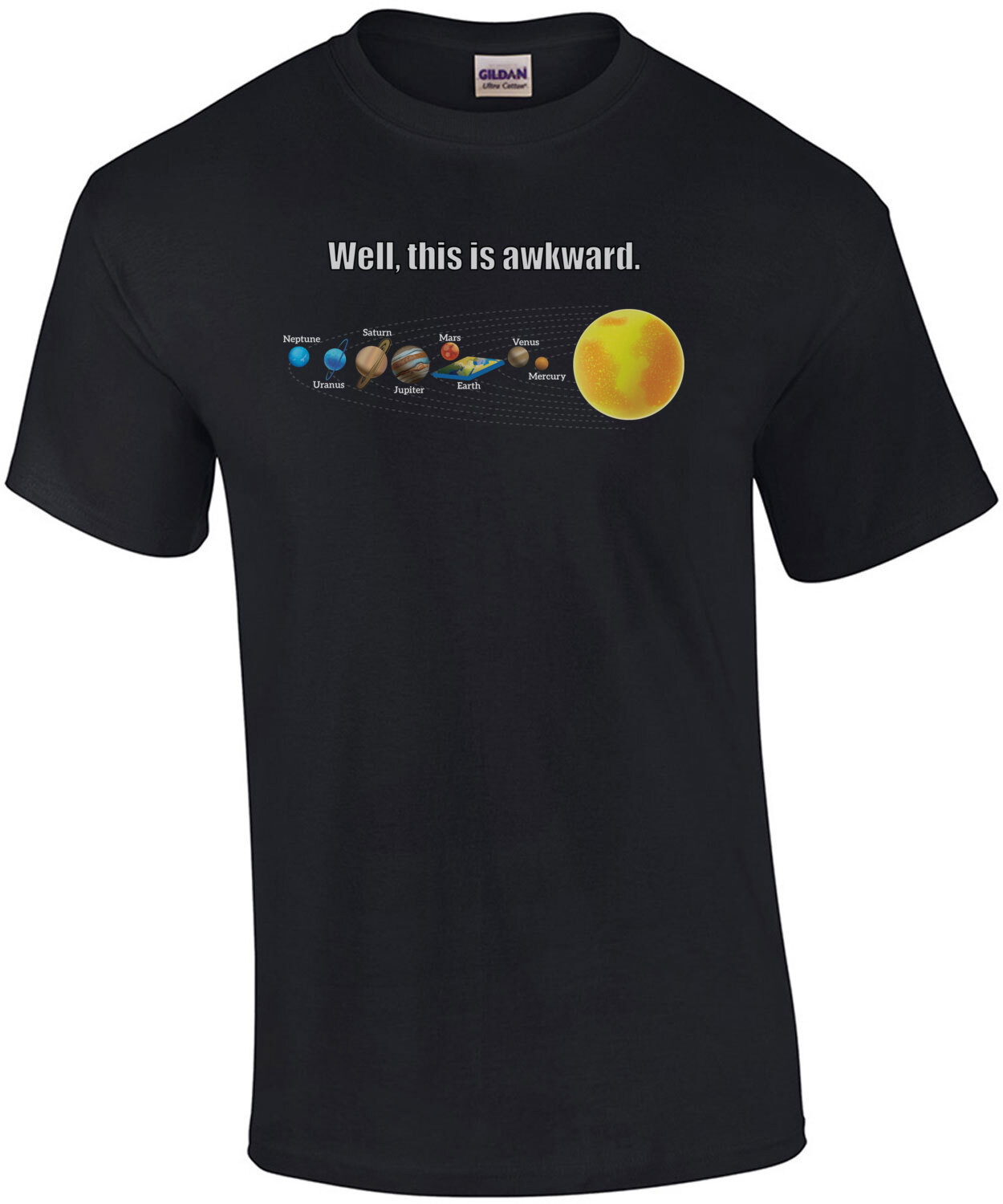 Well, this is awkward. Funny flat earther t-shirt