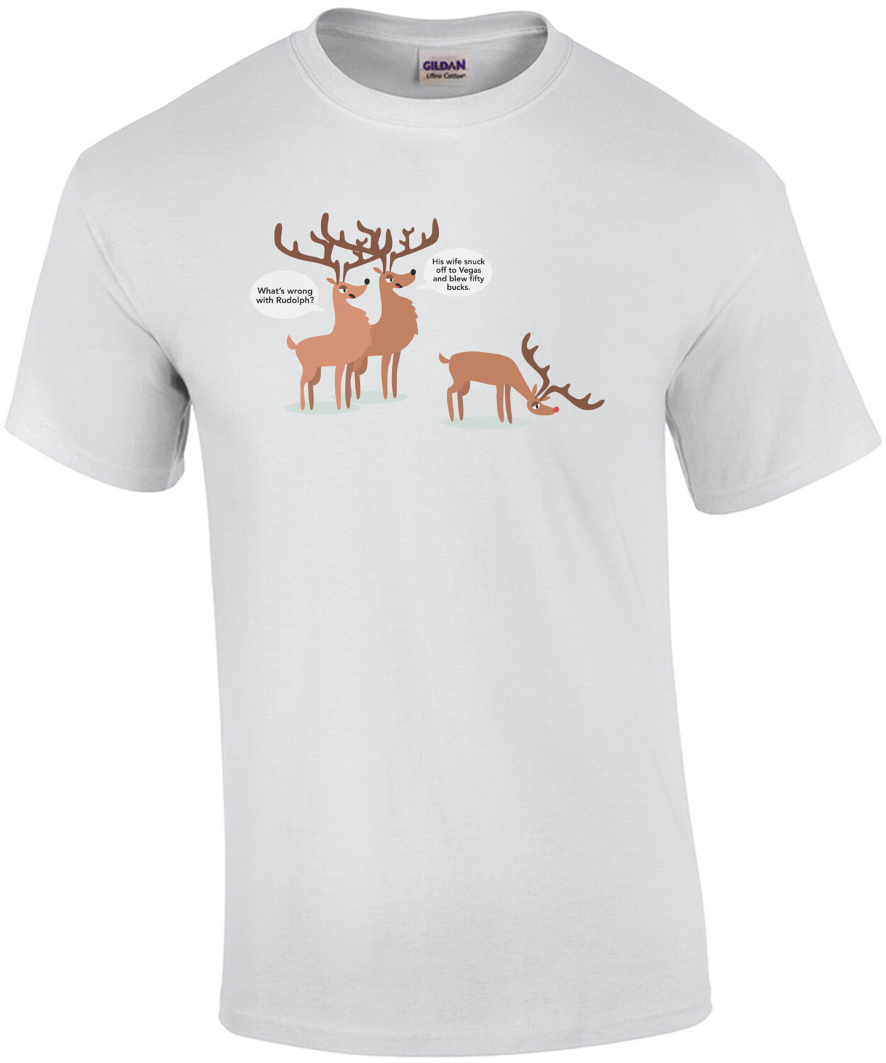 What's wrong with Rudolph? Funny Christmas T-Shirt