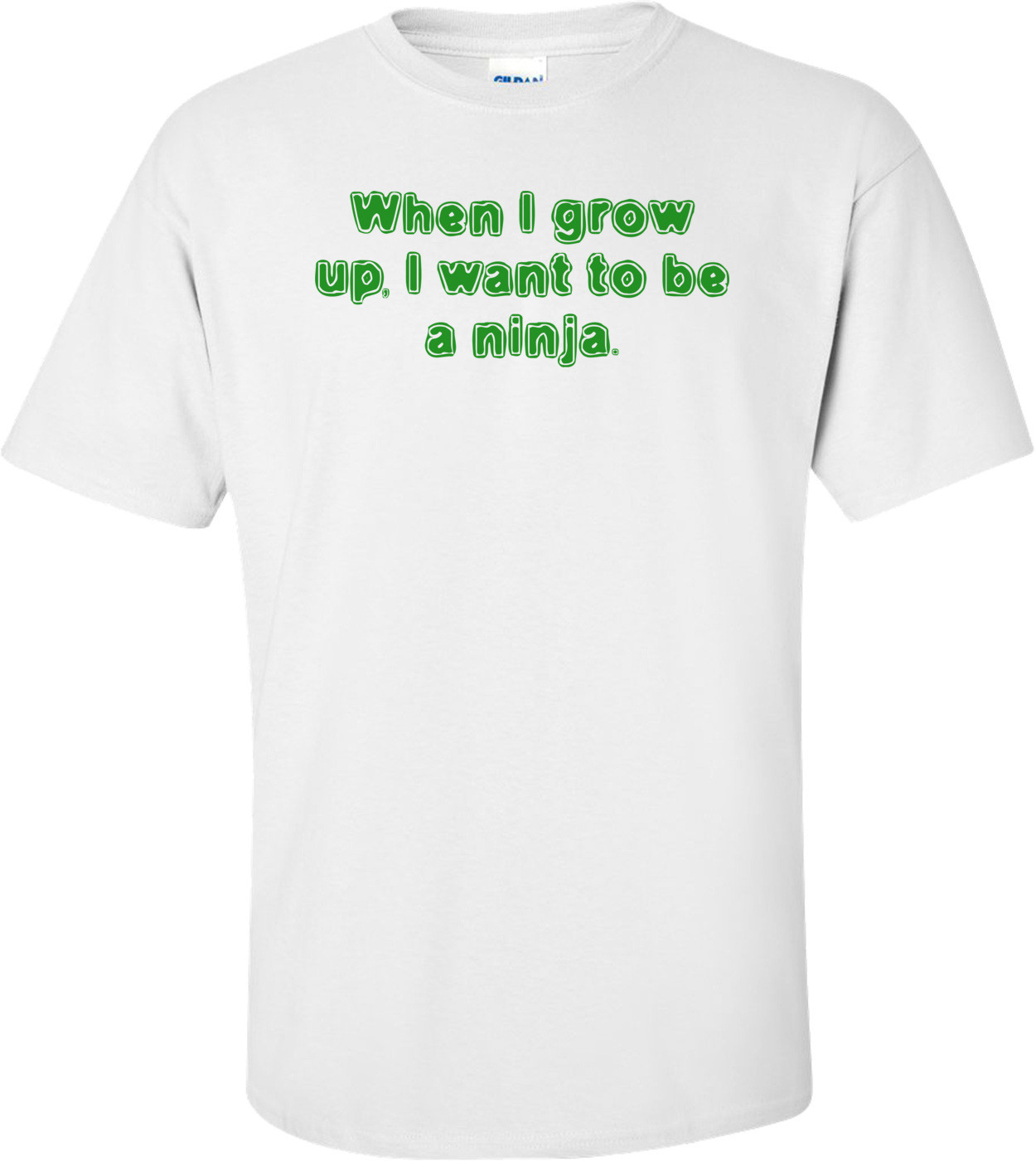 When I Grow Up, I Want To Be A Ninja. Shirt