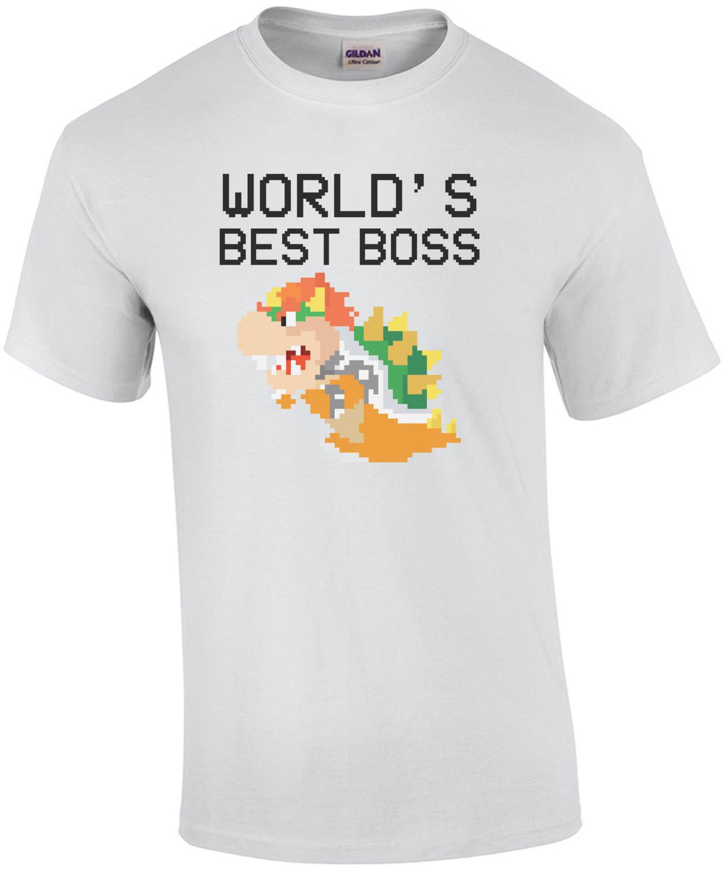World's Best Boss Bowser - Funny Super Mario Bros T-Shirt - Cool Video Game Shirt
