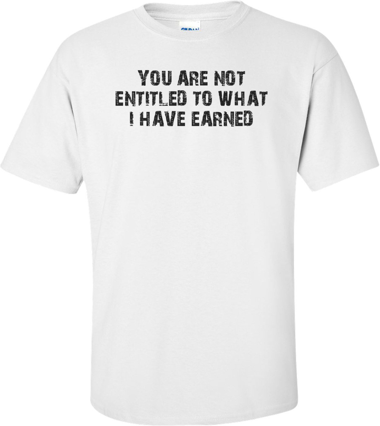 YOU ARE NOT ENTITLED TO WHAT I HAVE EARNED Shirt