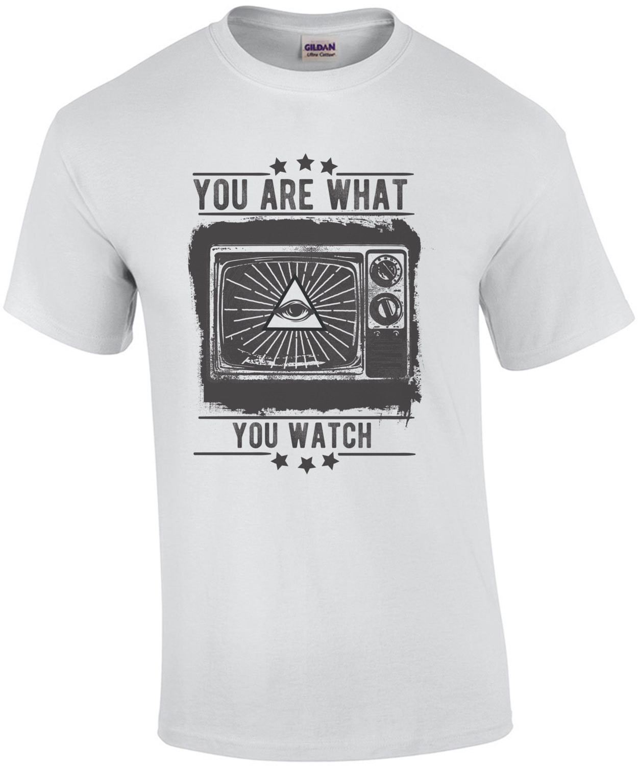 You Are What You Watch Illuminati Anti Tv T-Shirt