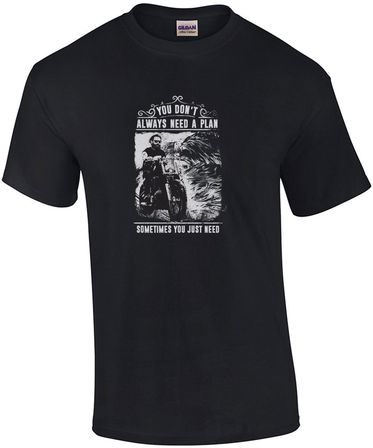 You Dont Always Need A Plan Sometimes You Just Need Balls And A Beard Biker T-Shirt