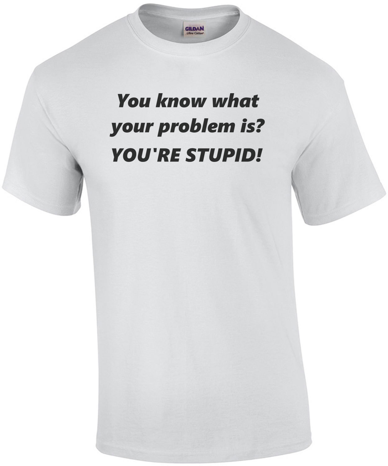 You know what your problem is? YOU'RE STUPID! Shirt