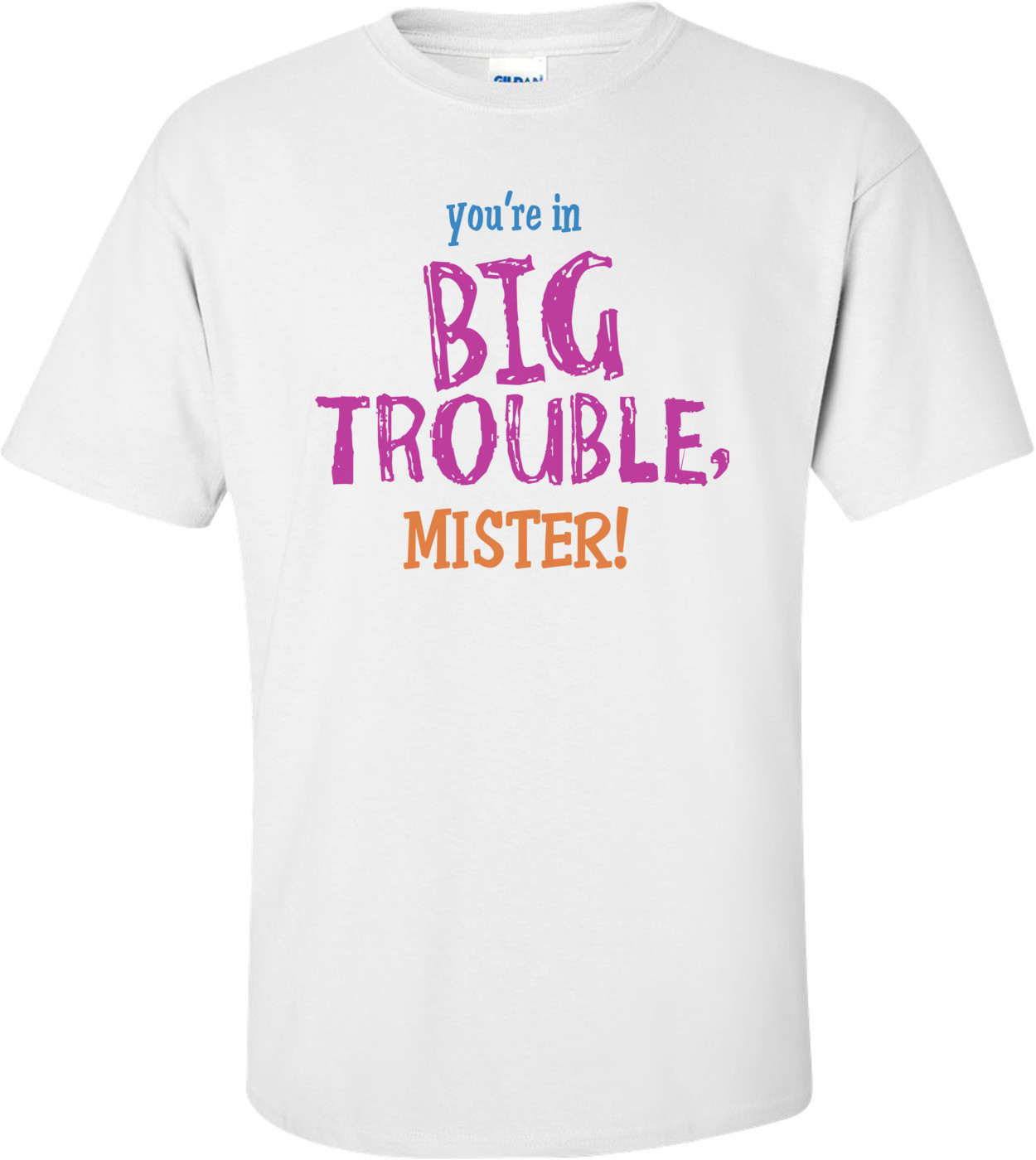 You're In Big Trouble Mister! T-shirt