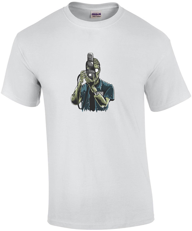 Zombie Camera Man Horror T-Shirt