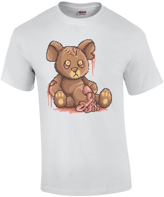 Zombie Teddy Bear Retro T-Shirt