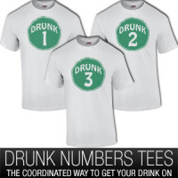 Drunk Group Shirts With Numbers T Shirt