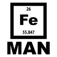 Fe Man - Iron Man - Element periodic table t-shirt