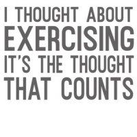 53882017 I thought about exercising it's the thought that counts - funny exercising  t-shirt