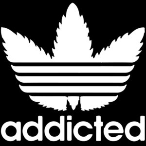 Addicted - Adidas Parody T-Shirt
