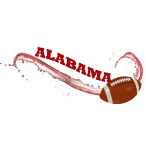 Alabama Football swish - Alabama T-Shirt