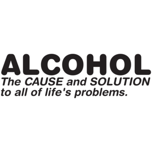 Alcohol The Cause And Solution To All Of Life's Problems T-shirt