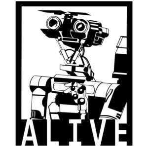 Alive - Johnny 5 - Short Circuit - 80's T-Shirt