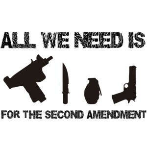 All we need is Uzi's Knives Grenades Guns For The Second Amendment - Pro Gun T-Shirt