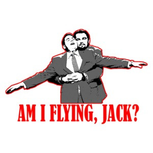 Am I Flying Jack Titanic Parody Confusing T-Shirt