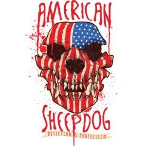 American Sheep Dog Patriotic Gothic T-Shirt