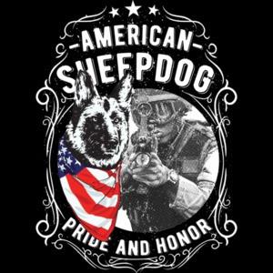 American Sheep Dog Patriotic T-Shirt