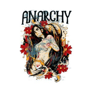 Anarchy Gothic Vintage Graphic T-Shirt