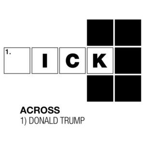 Anti Donald Trump Crossword Puzzle T-Shirt