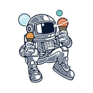 Astronaut Eating Ice Cream T-Shirt