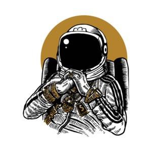 Astronaut Gangsta T-Shirt