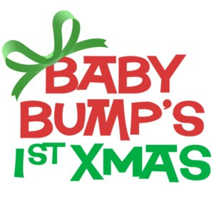 Baby Bump's 1st Xmas - Maternity T-Shirt