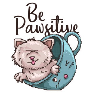 Be Pawsitive Cute Cats T-Shirt