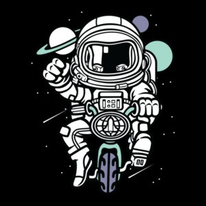 Bicycling In Space Astronaut T-Shirt